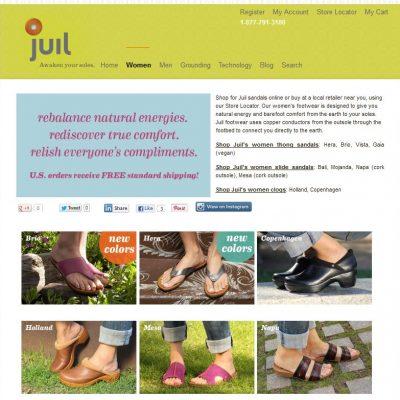 Juil Footwear Promotes Wellbeing & Energy