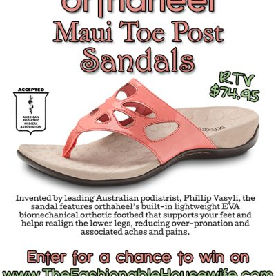 Enter To Win Orthaheel Maui Slip-On Sandals worth $75!