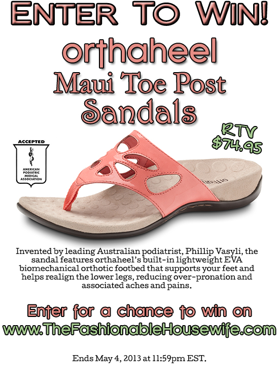 Enter for a chance to win Orthaheel Maui Sandals!