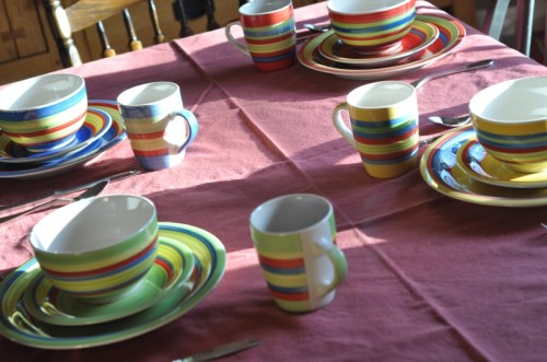 i need these striped dishes