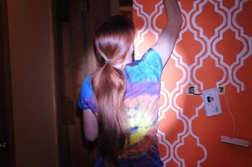 orange quatrefoil