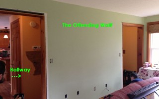 the offending wall