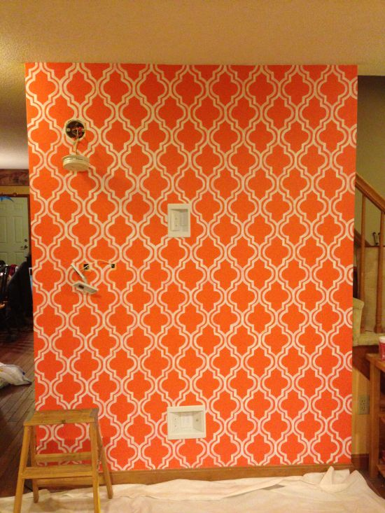 My Living Room Makeover Quatrefoil Moroccan Trellis Painted