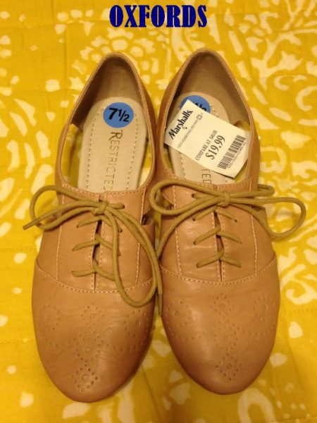 oxfords from Marshalls for $19.99 #fabfound