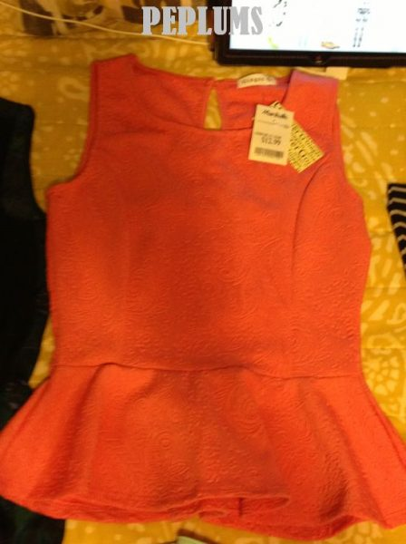 peplum top from Marshalls for $12.99 #fabfound