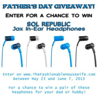 Father's Day Giveaway – SOL REPUBLIC Jax Headphones