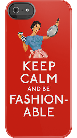 Fashionable Housewife iPhone case