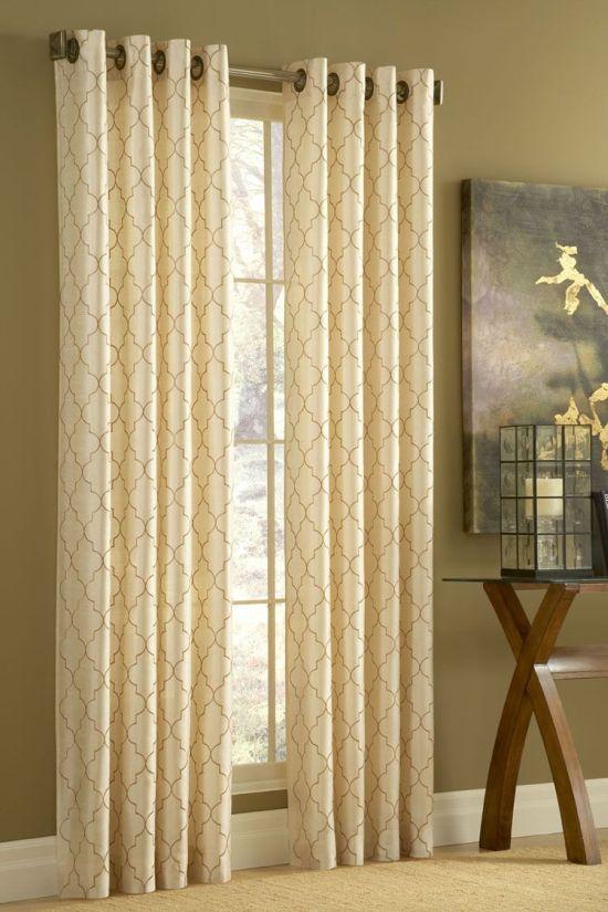 quatrefoil moroccan trellis curtains