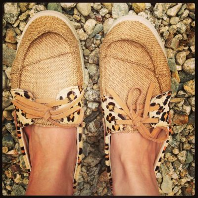 Wearing: LAMO Cruiser Leopard Boat Shoes