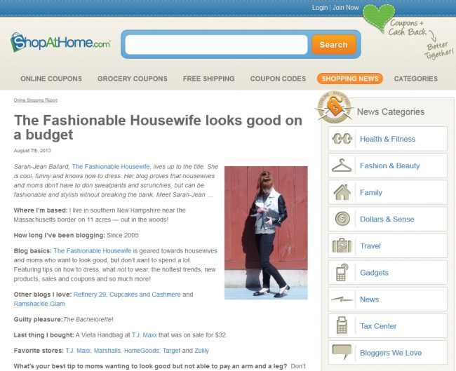 Press: Our Interview on ShopAtHome.com