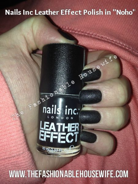 "Nails INC ""Leather Effect"" Nail Polish in Noho Black"