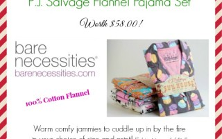 Day 9 Giveaway – Pajamas Set from Bare Necessities worth $58.00!