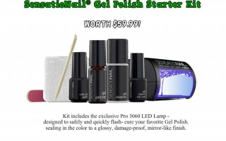 Day 3 Giveaway – SensatioNail® Gel Polish Starter Kit worth $59.99