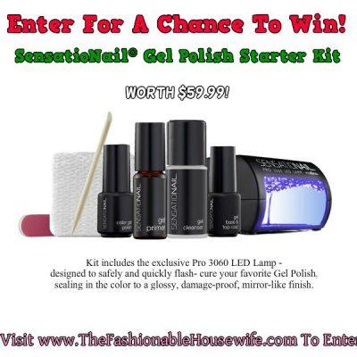 Day 3 Giveaway – SensatioNail® Gel Polish Starter Kit worth $59.99