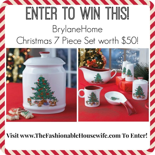Day 7 giveaway brylanehome christmas 7 piece set worth for Brylane home christmas decor