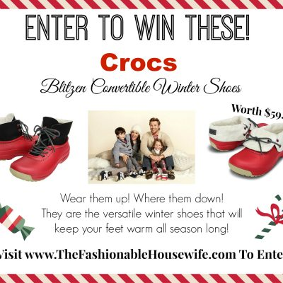 Day 8 Giveaway – Crocs Blitzen Convertible Winter Shoes worth $59.99