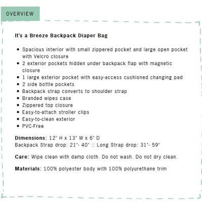 Day 1 Giveaway – Adelina Madelina Diaper Bag Backpack worth $79.99!