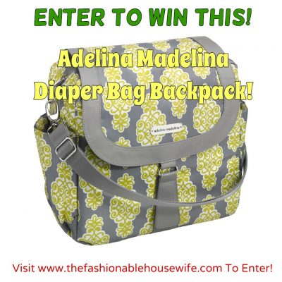 Day 1 Giveaway – Adelina Madelina Diaper Bag Backpack worth $79.99!