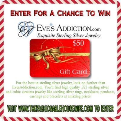Day 10 Giveaway – $50 eGift Certificate for EvesAddiction.com