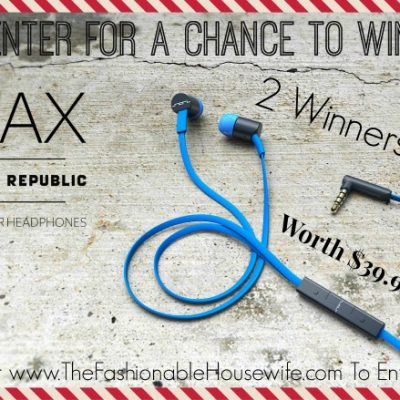 Day 11 Giveaway – SOL REPUBLIC Jax In-Ear Headphones worth $39.99