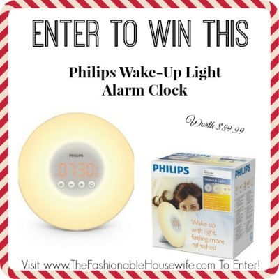 Day 6 Giveaway – Philips Wake-Up Light Alarm Clock worth $89.99