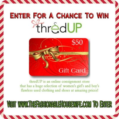 Day 4 Giveaway – $50 Credit for ThredUP Online Consignment Shop