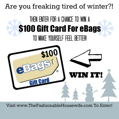 Enter To Win A $100 Gift Card for eBags!