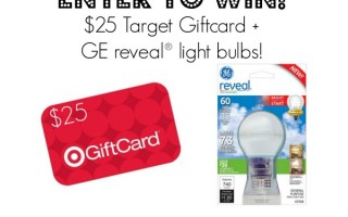 GE reveal® LED Bulbs & Target Gift Card Giveaway!
