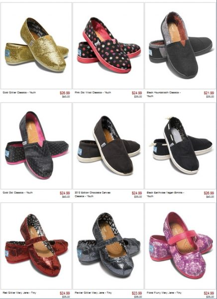 TOMS Shoes on Zulily with Exclusive Members-Only Deals!