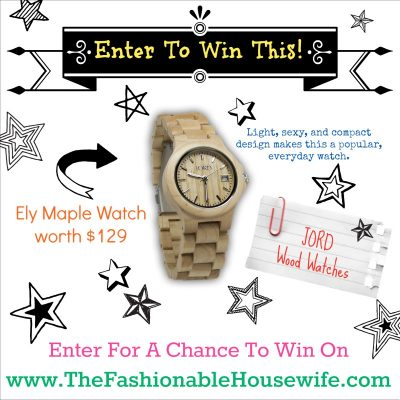 JORD Wood Watches Giveaway & Review