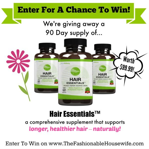 Win A 90 Day Supply of Hair Essentials Herbal Supplement worth $99!