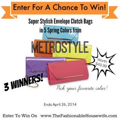 Enter To Win A Metrostyle Patent Leather Envelope Clutch worth $49! THREE Winners!