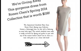 We're Giving Away This Ronen Chen Asymetric Tunic Dress worth $158!