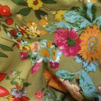 Vintage Floral Print Lining