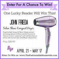 conair john frieda hair dryer giveaway
