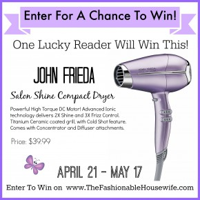 conair john frieda hair dryer giveaway