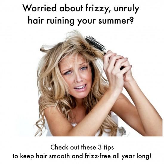 frizzy unruly hair