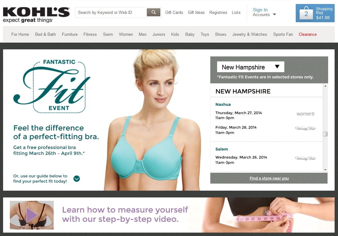 23acb877136 Head To Kohl s Fantastic Fit Event for Free Bra Fitting! - The ...