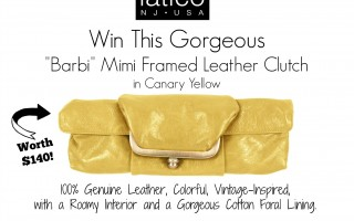 Enter for a chance to win a Leather Clutch from Latico Leathers