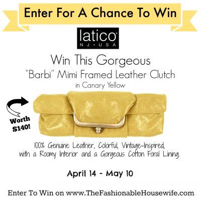 Enter To Win A Luxury Leather Clutch from Latico Leathers worth $140!