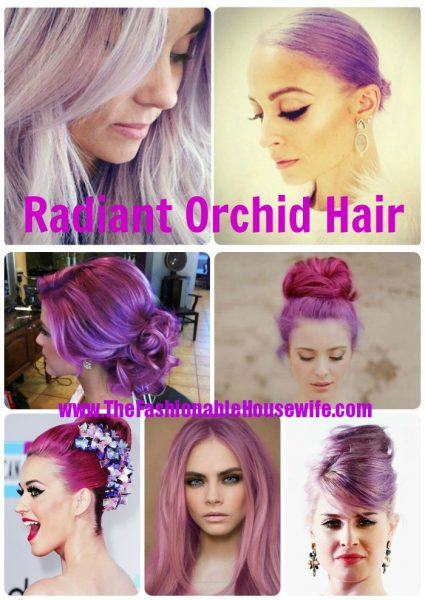 radiant orchid hair collage 2014
