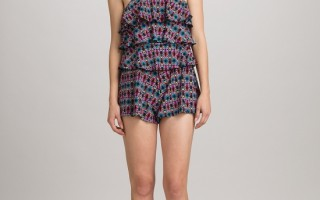 tiered romper swimsuit