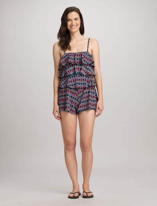 cute one piece fit 4 u tiered romper swimsuit   the