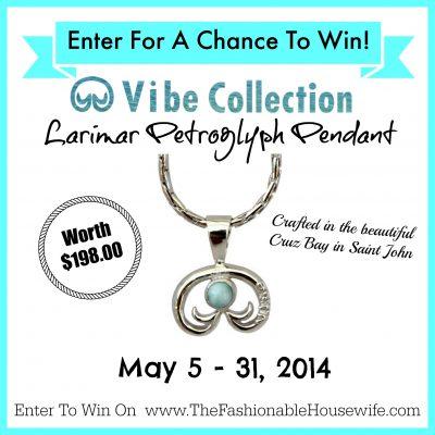 Enter To Win VIBE Collection Larimar Petroglyph Pendant worth $198!