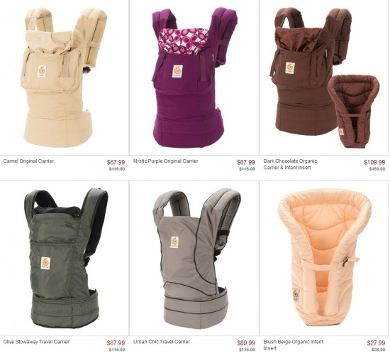 ergo baby carriers on zulily