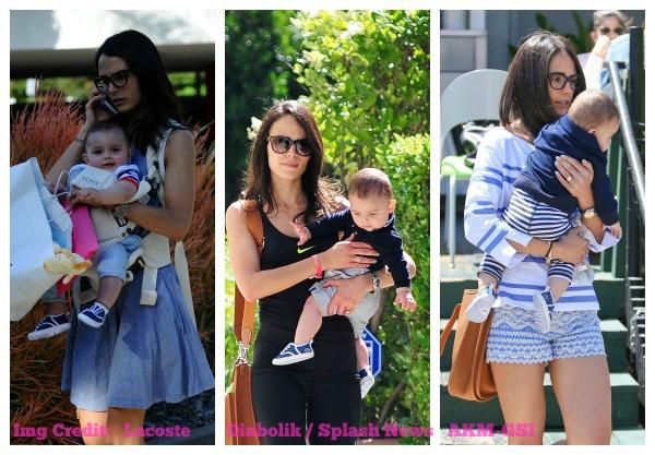 Celebrity Style:  Jordana Brewster's Son Wearing Lacoste