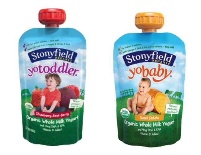 Snacks On The Go: Stonyfield Yogurt Pouches