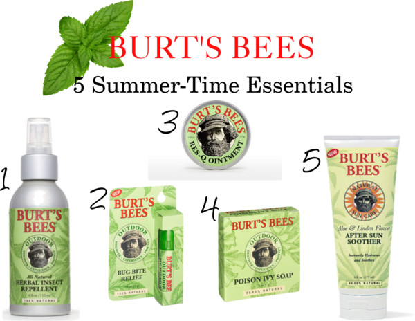 Burt's Bees 5 Summer-Time Essentials