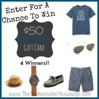 Enter To Win a $50 East Dane Gift Card! 4 Winners!