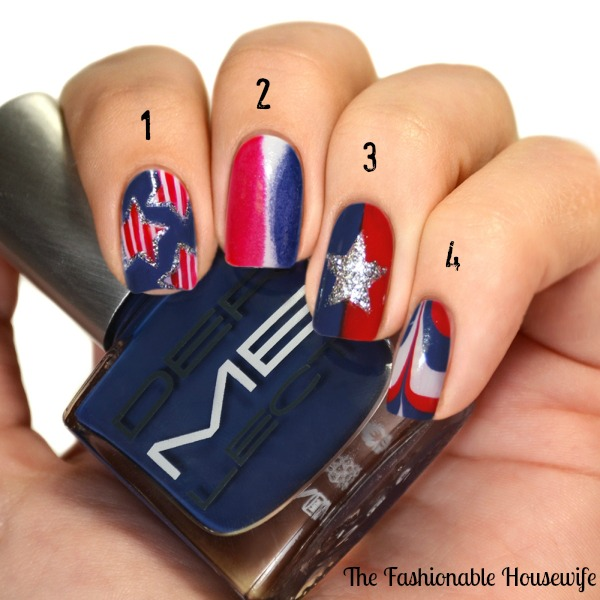 4th Of July Nail Art Tutorial From Dermelect The Fashionable Housewife